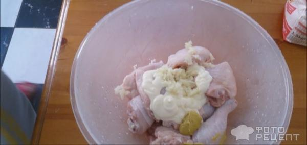 Рецепт 'Куриные окорочка в тесте' фото