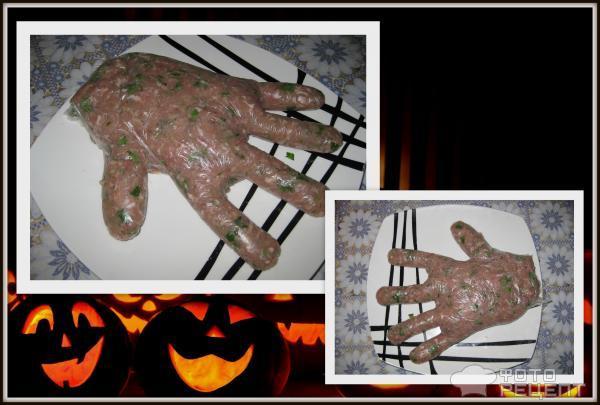 Запеканка Рука из фарша на Хэллоуин фото