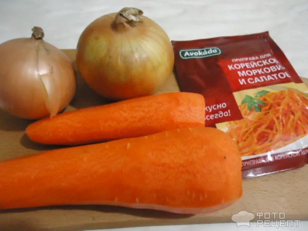 Мясной салат Хе фото