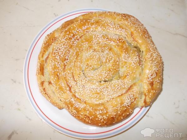 Пирог с сыром фета и шпинатом, пошаговый рецепт с фото