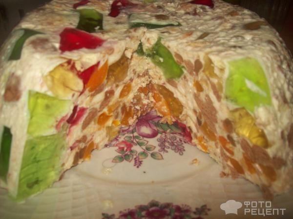 Торт без выпечки с крекером