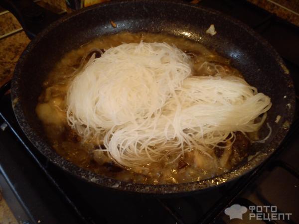 Фунчоза в сливочном соусе рецепт