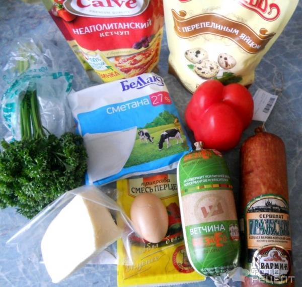 Смажень с заливкой по-белорусски. продукты