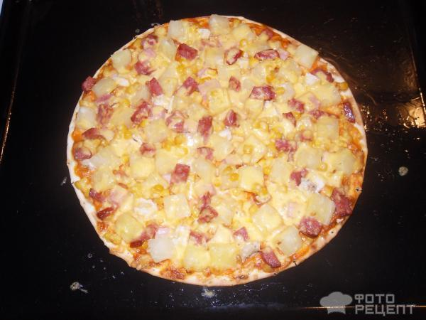 Рецепт пиццы с ананасами в домашних условиях в духовке