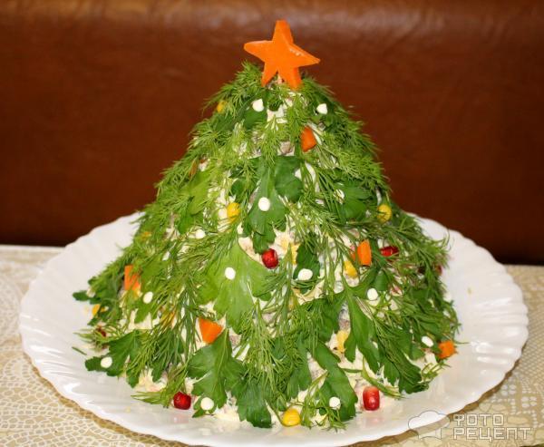 новогодние салаты рецепты фото пошагово
