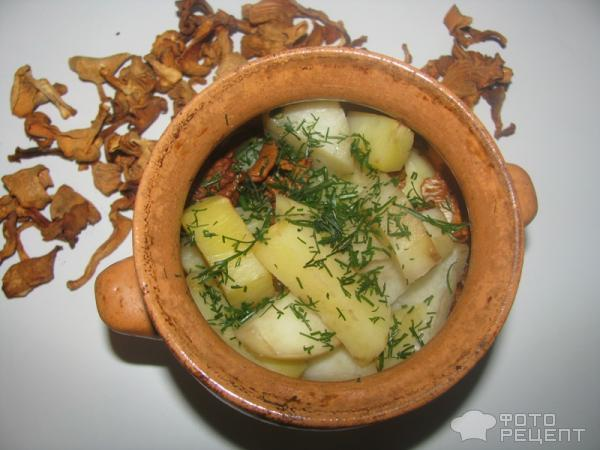 Рецепт картошки в горшочках с грибами и сыром с пошагово
