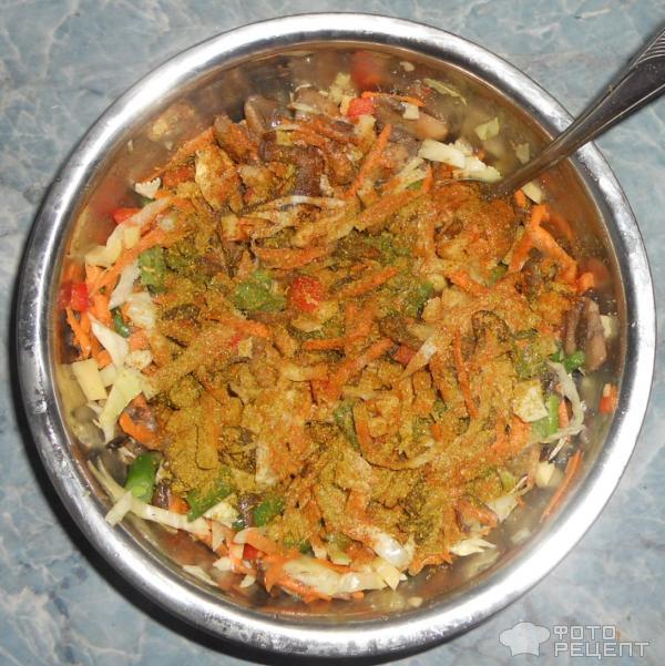Рагу овощное с грибами в духовке рецепт