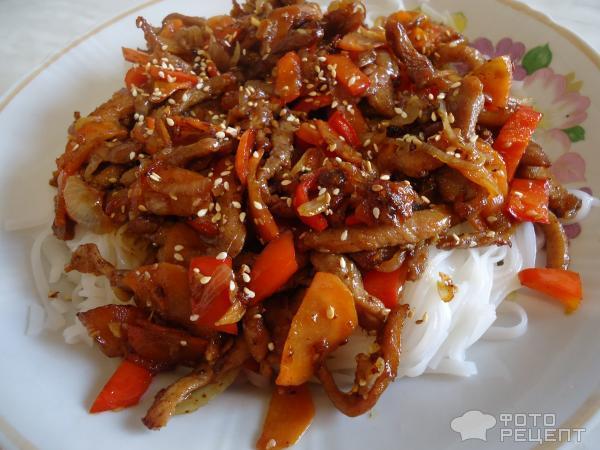 свинина в соусе терияки с овощами рецепт с фото
