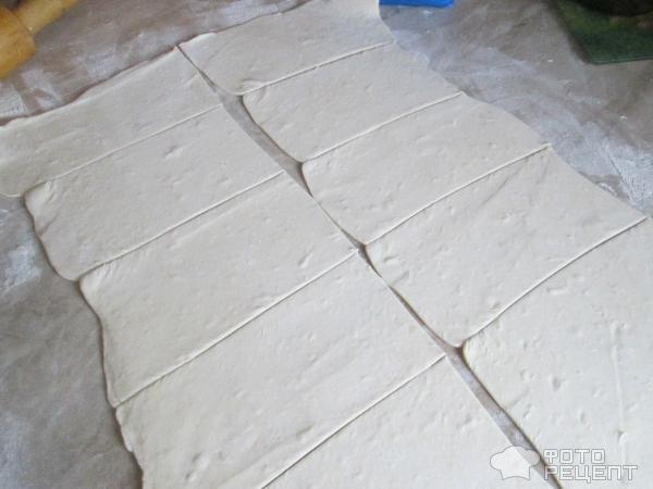 Рогалики из слоеного теста с начинкой фото