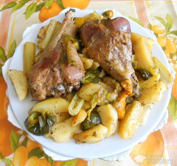Голень индейки в духовке рецепт маринад
