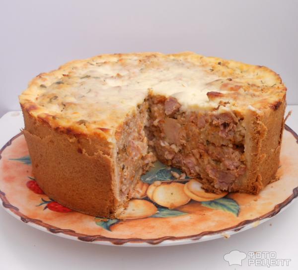Итальянский мясной пирог Тимбале