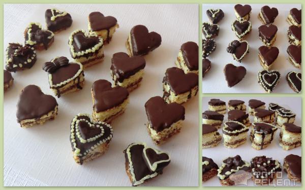 Бисквитное пирожное-валентинка фото
