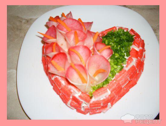 Салат Цветущее сердце фото