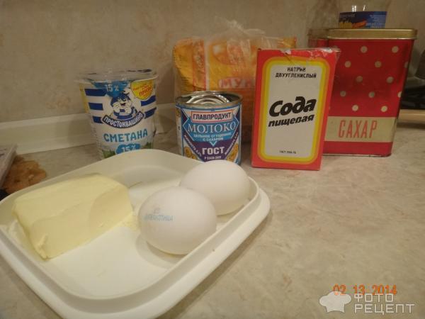 Рецепт: Торт Мечта жизни - Со сметанным кремом