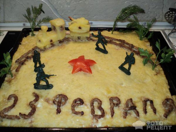 Картофельная запеканка Военный поезд фото