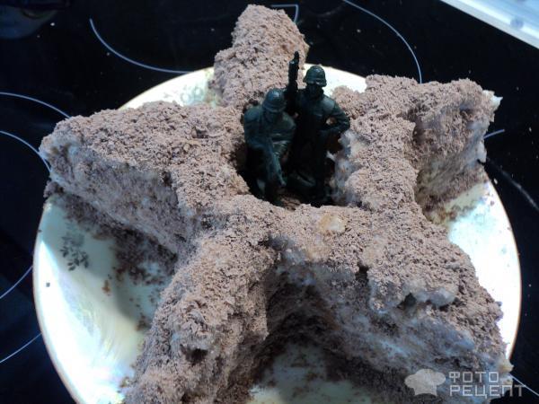 Сметанный торт Окоп фото