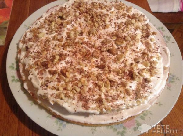Вафельный бисквитный торт рецепт