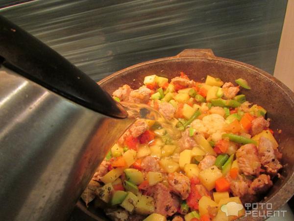 Овощное рагу в казане рецепт с фото