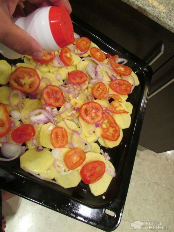 Сибас, запеченный в духовке фото