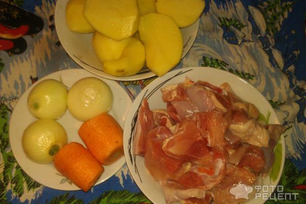 картошка тушеная окорочком рецепт фото