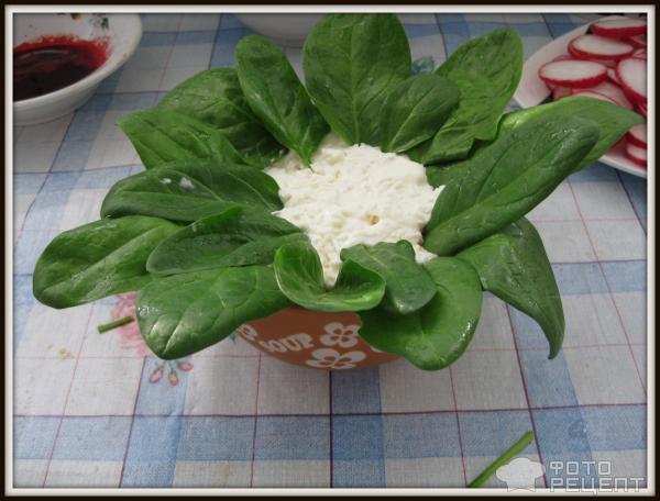 Салат Горшочки с цветами фото