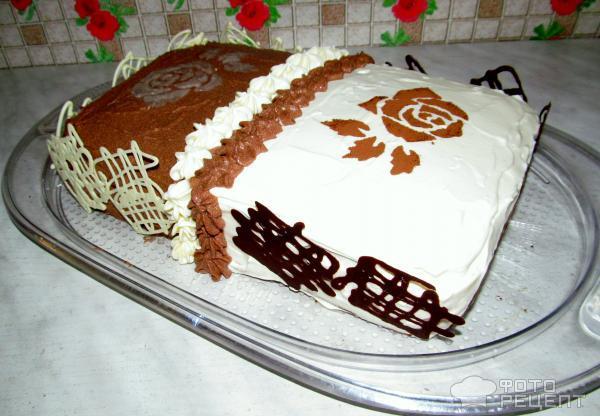 Торт день и ночь заварной крем