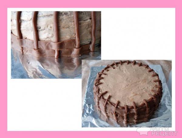 Торт Корзинка с розами фото