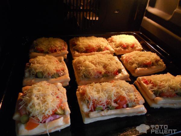 Пицца со слоёного теста рецепты