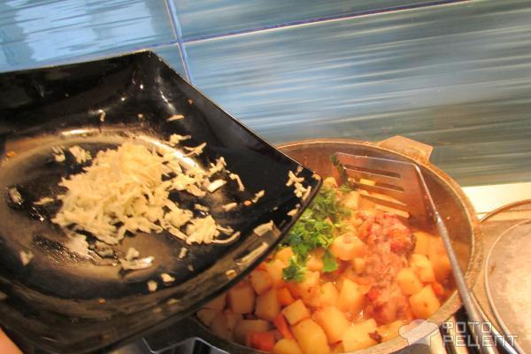 Потушить картошку с капустой пошаговый рецепт с