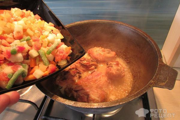 Рецепт картошка с курицей в казане рецепт пошагово