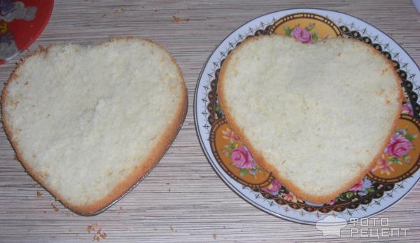 Ванильный шифоновый бисквит фото