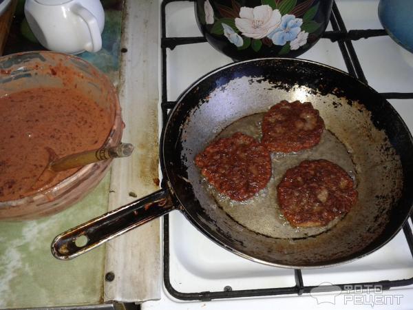 Печёночные оладьи из печени пошагово с фото в
