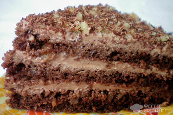 Торт шоколадный со сметанным кремом рецепты с пошагово