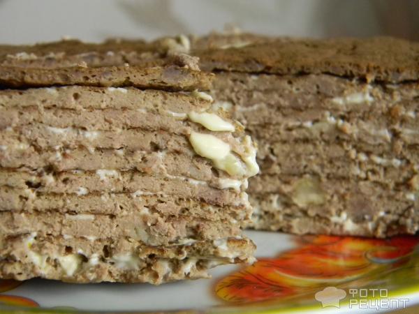 Печеночный торт рецепт с пошагово с чесноком