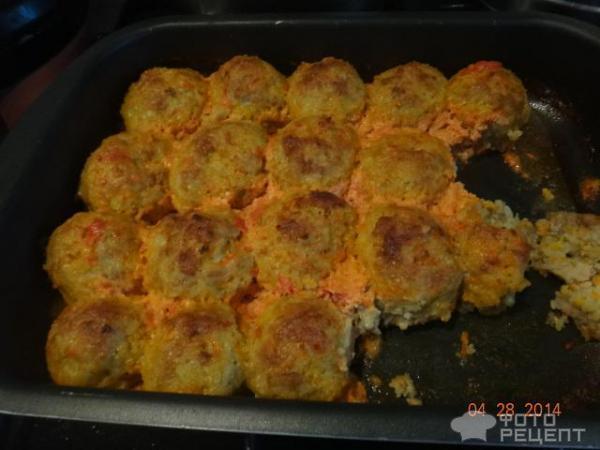 тефтели куриные в духовке в сметанном соусе