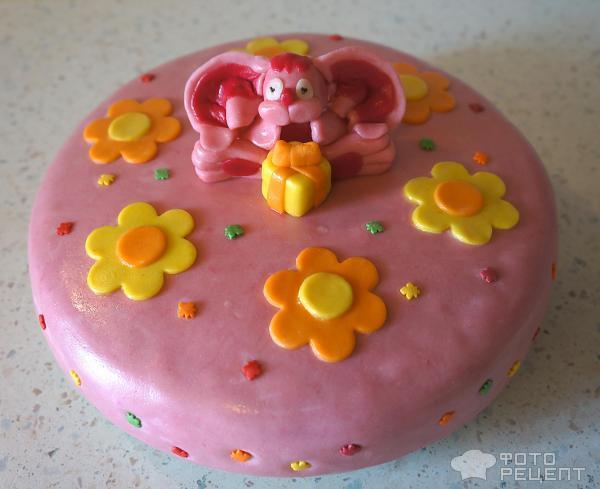 Домашний детский торт с мастикой рецепт