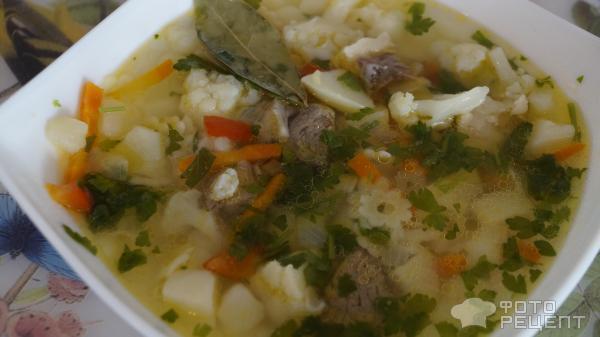 Суп с цветной капусты фото