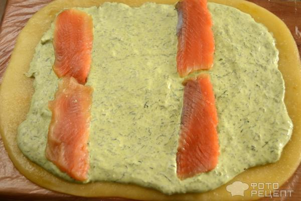 Сырный рулет с семгой пошаговый рецепт