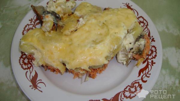 Кижуч с картошкой в духовке рецепт