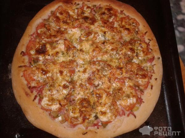 Пицца в домашних условиях с помидорами 820