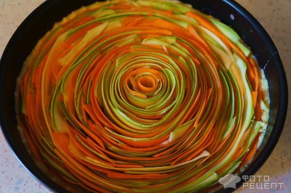 Овощной пирог в духовке рецепт с простой рецепт