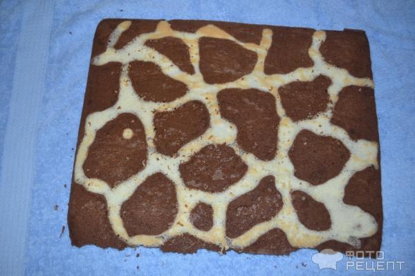 бисквитный рулет жираф рецепт с фото