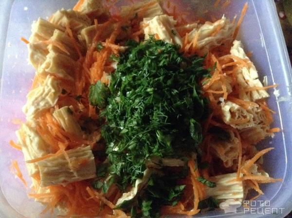Салат из спаржи соевой