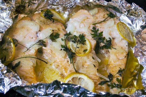 Красная рыба в духовке в фольге рецепты с лимоном стейки