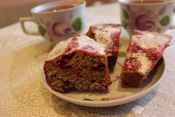 Кофейный кекс с вишнями фото