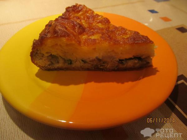 Рецепт заливного пирога с курицей и грибами