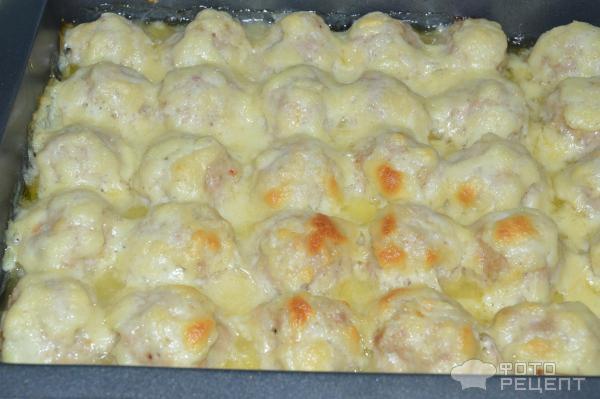 Тефтели в духовке с сыром с подливкой пошаговый рецепт с