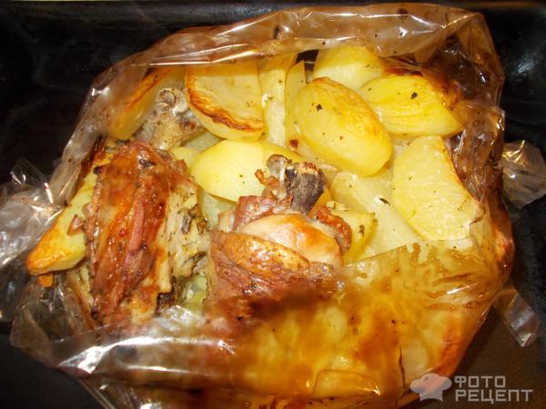 Рецепт курицы с картошкой в духовке в рукаве с картошкой в духовке