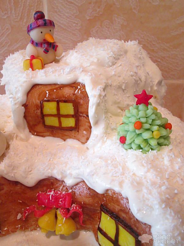 Фото торта лесная избушка