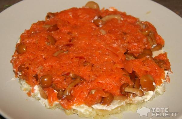 Салат из грибов куриная копченая грудка